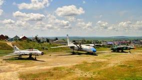 Vieux avions militaires de l'URSS image stock