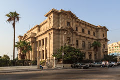 Vieux bâtiment à l'Alexandrie Images libres de droits