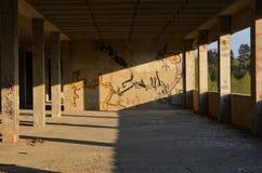 Vieux bâtiment abandonné photo stock