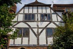 Vieux bâtiment anglais à Cantorbéry, Royaume-Uni photo stock