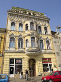 Vieux bâtiment baroque, Targu Mures, Roumanie Images stock