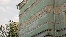 Vieux bâtiment d'architecture de façade clips vidéos
