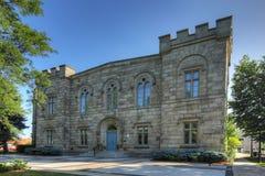 Vieux bâtiment d'Hôtel de Ville dans Milton, Canada photographie stock libre de droits