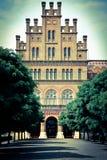 Vieux bâtiment d'université Photos libres de droits