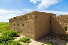 Vieux bâtiment dans le désert irakien Photo stock