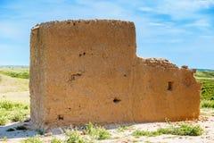 Vieux bâtiment dans le désert irakien Image stock