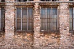 Vieux bâtiment dans Murano avec la grille Images libres de droits
