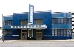 Vieux bâtiment de gare routière Photo stock