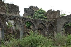Vieux bâtiment de Ghost dans l'Inde photos stock