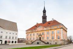 Vieux bâtiment de hôtel de ville Ville de Narva, Estonie Photo libre de droits