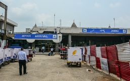Vieux bâtiment de Jammu Airport, Inde image stock