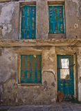 Vieux bâtiment de Rethymno détruit Images libres de droits