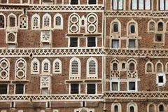 Vieux bâtiment de Sanaa - Yémen Image libre de droits
