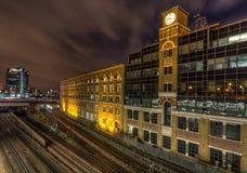 Vieux bâtiment de stockage dans Kensington Image stock