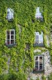 Vieux bâtiment fleuri de la vieille section de ville de Québec, Canada photos libres de droits