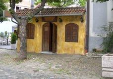 Vieux bâtiment historique Skadarlija quart de Bohème Belgrade Ser Photo libre de droits