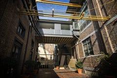 Vieux bâtiment industriel re-purposed Photo stock
