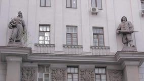 Vieux bâtiment soviétique de gouvernement banque de vidéos