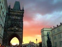 Vieux bâtiment urbain à Prague, le 17 août 2017 Image stock