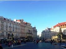 Vieux bâtiment urbain à Prague, le 17 août 2017 Photos stock