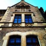 Vieux bâtiment, Windows Prague, ville Photos libres de droits