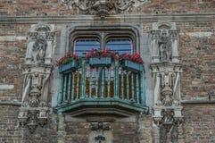 Vieux bâtiments à Bruges, Belgique images libres de droits