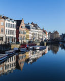 Vieux bâtiments à Gand au cours de la journée Image libre de droits