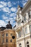 Vieux bâtiments à Sibiu Photographie stock libre de droits