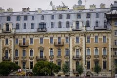 Vieux bâtiments à St Petersburg, Russie Photographie stock libre de droits