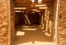 Vieux bâtiments coloniaux Casa de los Coroneles à La Oliva sur Fu Photos libres de droits