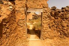 Vieux bâtiments coloniaux Casa de los Coroneles à La Oliva sur Fu Images stock