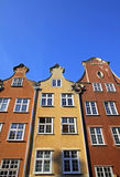 Vieux bâtiments colorés dans la ville de Danzig, Pologne Images libres de droits