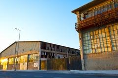 Vieux bâtiments d'entrepôt Image libre de droits