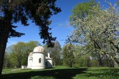 Vieux bâtiments d'observatoire d'université de Vilnius Photographie stock