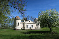 Vieux bâtiments d'observatoire d'université de Vilnius Image libre de droits