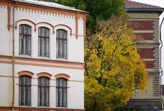 Vieux bâtiments dans Vyborg, Russie Photos libres de droits