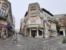 Vieux bâtiments de Bucarest photo libre de droits