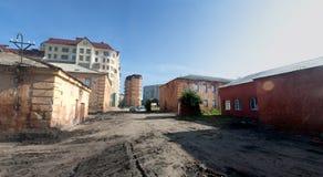 Vieux bâtiments de forteresse d'Omsk Photographie stock libre de droits