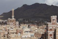 Vieux bâtiments de Sanaa photos libres de droits