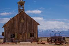 Vieux bâtiments historiques de l'ouest photographie stock libre de droits