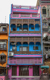 Vieux bâtiments historiques de Lahore, rue Lahore Pakistan de nourriture Images stock
