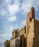 Vieux bâtiments près de secteur financier de New York Photo stock