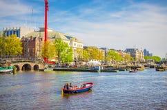 Vieux bâtiments traditionnels à Amsterdam, Netherland Photographie stock libre de droits