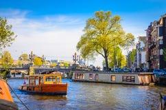 Vieux bâtiments traditionnels à Amsterdam, Netherland Photographie stock