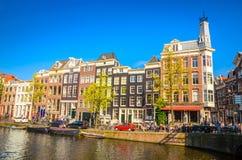 Vieux bâtiments traditionnels à Amsterdam, Netherland Image stock