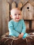 Vieux bébé de dix mois de sourire mignon Image stock