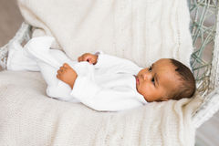 Vieux bébé garçon de trois mois d'Afro-américain Photos stock