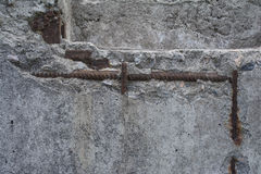 Vieux béton avec le décalque Image stock
