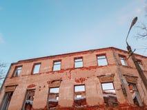 Vieux b?timent architectural Vieux bâtiment architectural ruiné Plan rapproché de cru d'architecture image libre de droits