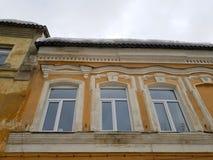 Vieux b?timent architectural Un b?timent r?sidentiel antique dans la ville photos libres de droits